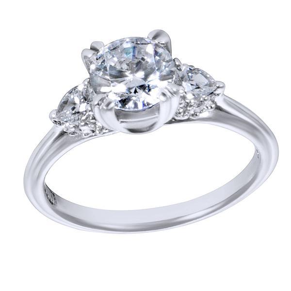 BRAND NEW Tacori 3 Stone Engagement Ring Setting in Platinum (1/3 CTW)