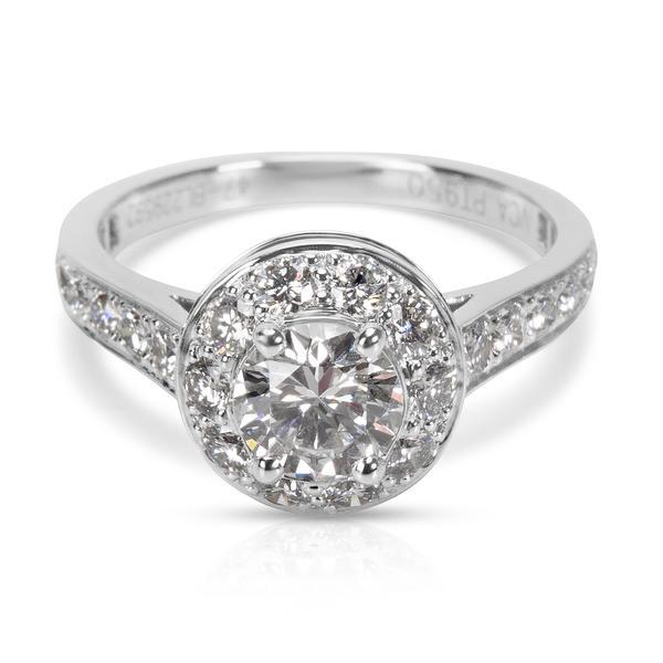GIA Certified Van Cleef & Arpels Diamond Engagement Ring in Platinum (1.01 CTW)
