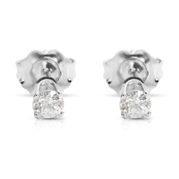 Round Diamond Stud earrings in 14KT White Gold 0.30 ctw