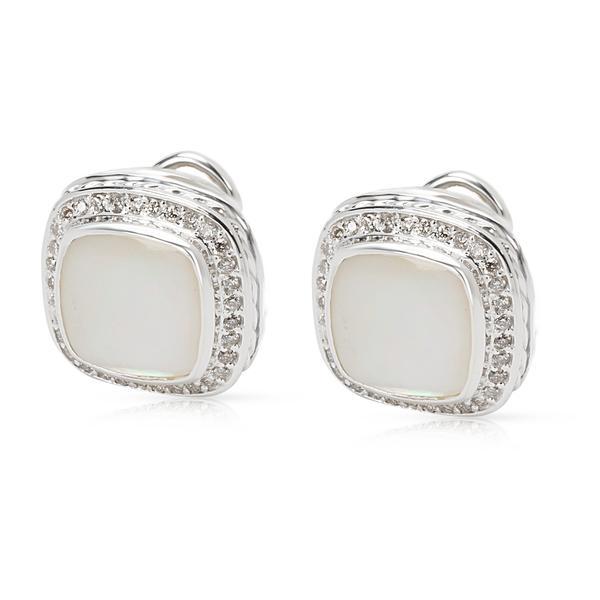 David Yurman Mother of Pearl Albion Earrings in Sterling Silver