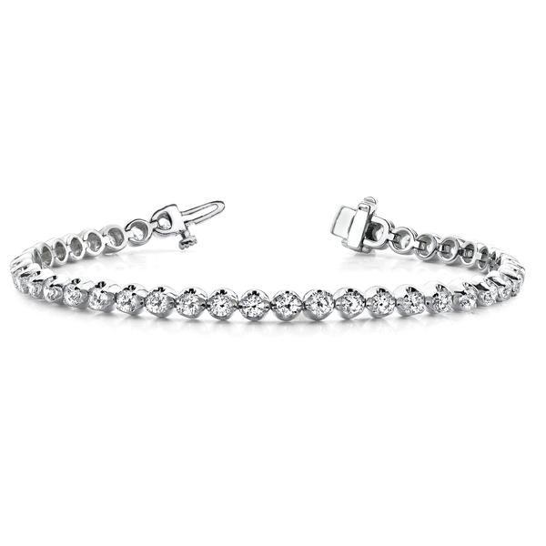 Cubic Zirconia Bracelet in Sterling Silver (4 CTW)