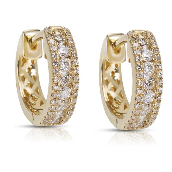 BRAND NEW Diamond Huggie Hoop Earrings in 14K Gold (0.35 CTW)