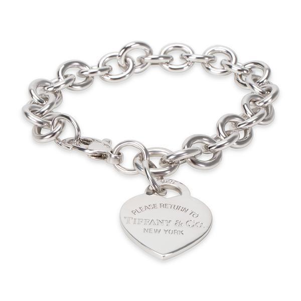 "Tiffany & Co. ""Return to Tiffany"" Heart Tag Charm Bracelet in Sterling Silver"