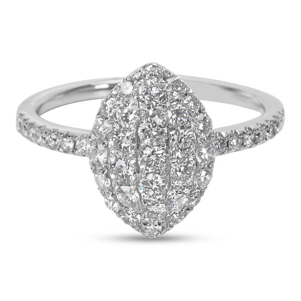 Old Pave Diamond Shaped Fashion Ring 0.75 ctw