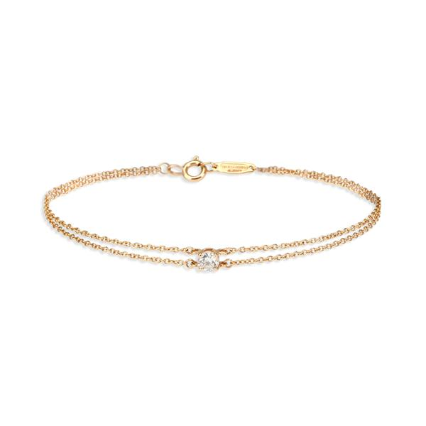 Tiffany & Co. Diamond Solitaire Bracelet in 18K Rose Gold (0.18 CTW)