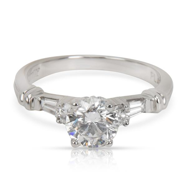 GIA Certified Scott K Diamond Engagement Ring in Platinum (0.85 ct F/SI2)
