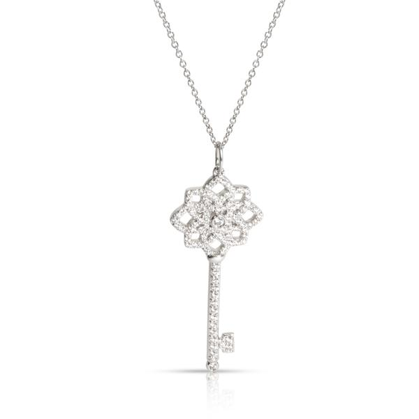 Tiffany & Co. Woven Key Diamond Pendant in Platinum 0.37 CTW
