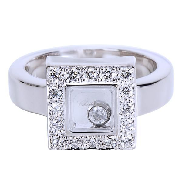 Chopard Happy Diamond Ring in 18K White Gold (0.38 CTW)