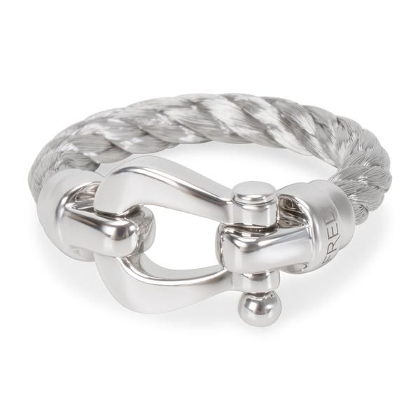 Fred Woven Buckle Ring in 18KT White Gold