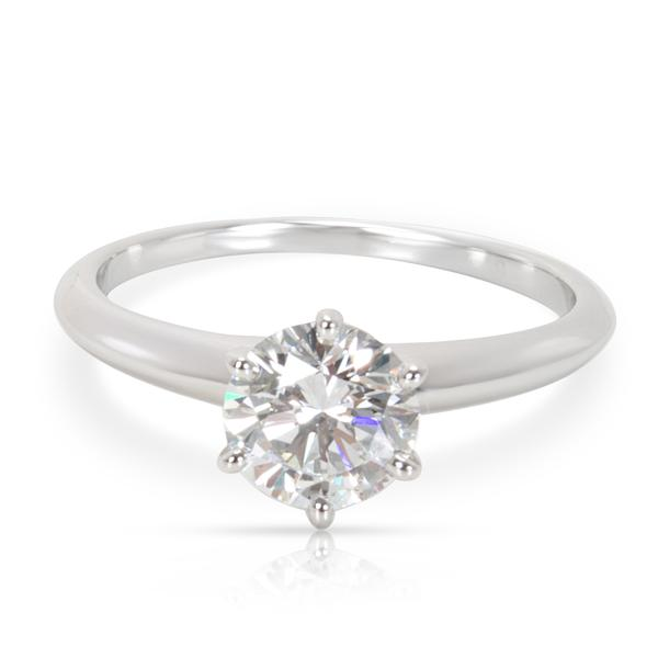 Tiffany & Co. Diamond Solitaire Engagement Ring in Platinum (1.27 ct F/VS2)