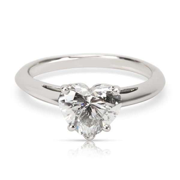 Tiffany & Co. Heart Shaped Diamond Engagement Ring in Platinum F VS1 (1.20 CTW)