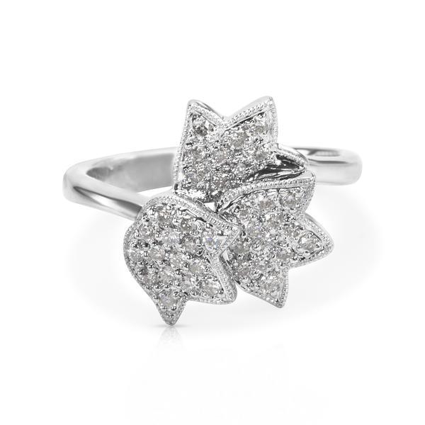 Diamond Flower Fashion Ring in 18K White Gold (0.35 CTW)