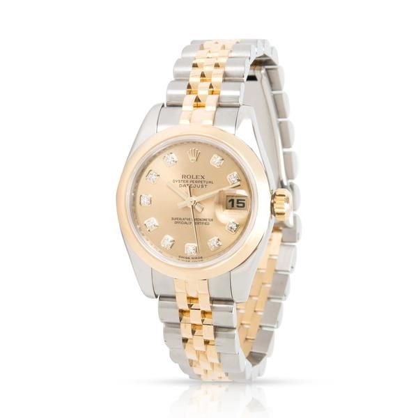 Rolex Datejust 179163 Women's Watch in 18K Stainless Steel/Yellow Gold