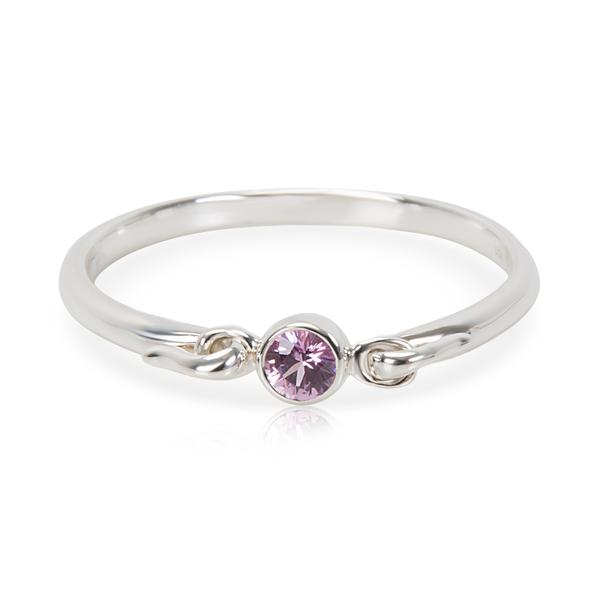 Tiffany & Co. Swan Pink Sapphire Ring in Sterling Silver