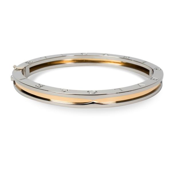 Bulgari Bangle in 18K Yellow Gold & Stainless Steel
