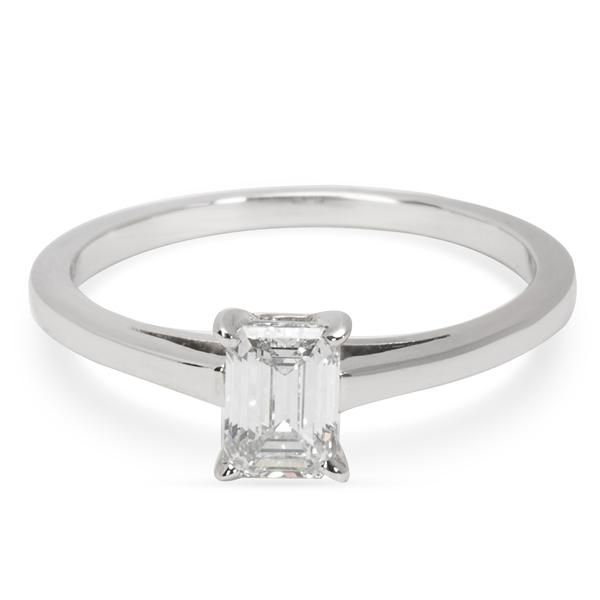 Cartier Emerald Cut Engagement Ring in Platinum (0.55 CTW)