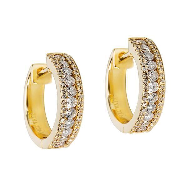 Diamond Hoop Earrings in 14K Yellow Gold (0.50 CTW)