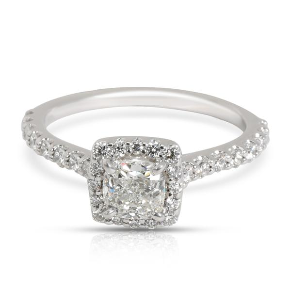 GIA Certified Ritani Halo Diamond Engagement Ring in 14K Gold G IF 0.97 CTW