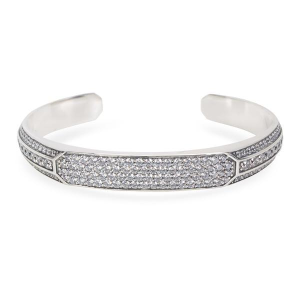 David Yurman Heirloom Grey Sapphire Men's Cuff in Sterling Silver