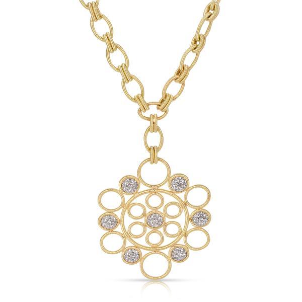 """Buccellati """"Maria"""" Diamond Pendant in 18K Yellow Gold (0.16 CTW)"""