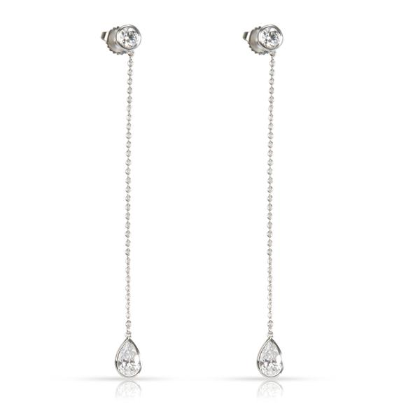 Tiffany & Co. Elsa Peretti Diamond Dangle Earrings in Platinum 1.36 CTW