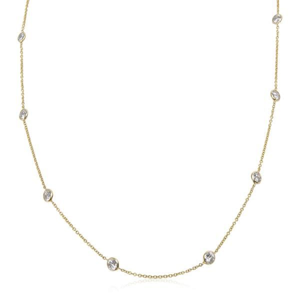 Brand New Diamond by the Yard Necklace in 14KT Gold