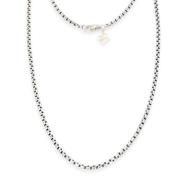 David Yurman Extra Large Oval Link Necklace in Sterling Silver & 18K Yellow Gold
