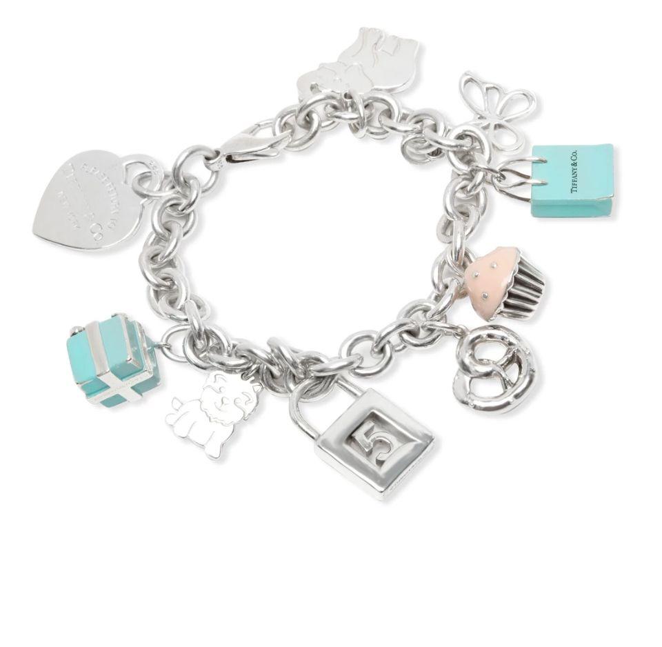 Tiffany & Co.  Charm Bracelet   in  Sterling Silver