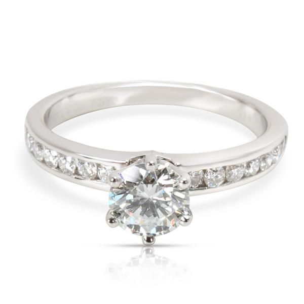 Tiffany & Co. Diamond Diamond Engagement Ring in Platinum GIA E VVS2 0.8 CTW