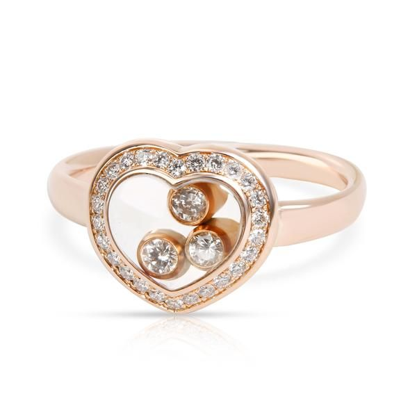Chopard Happy Curves Diamond Ring in 18K Rose Gold 0.29 CTW