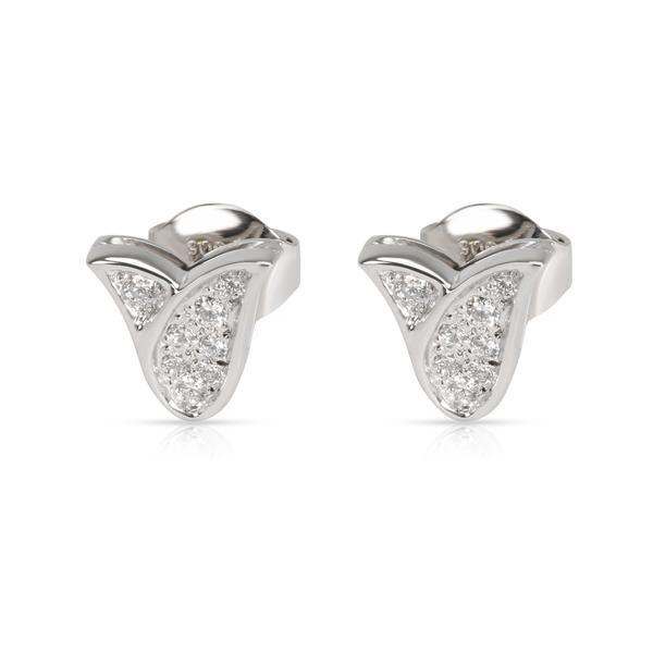 Graff Tulip Diamond Earring in 18K White Gold 0.22 CTW
