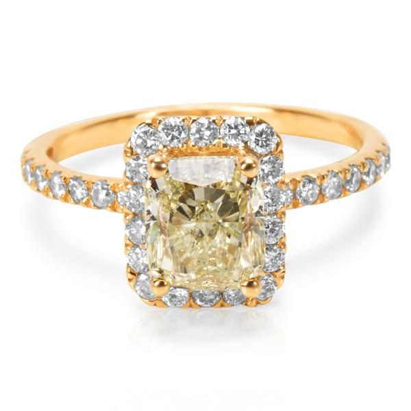 Diamond Halo Engagement Ring in 14k Yellow Gold (2.55 CTW)