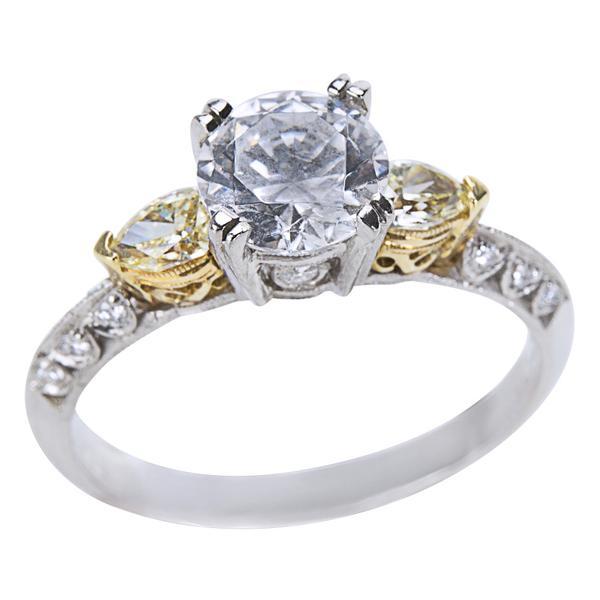 BRAND NEW Tacori Diamond Engagement Ring Setting in Platinum/18k Gold (0.40 ctw)