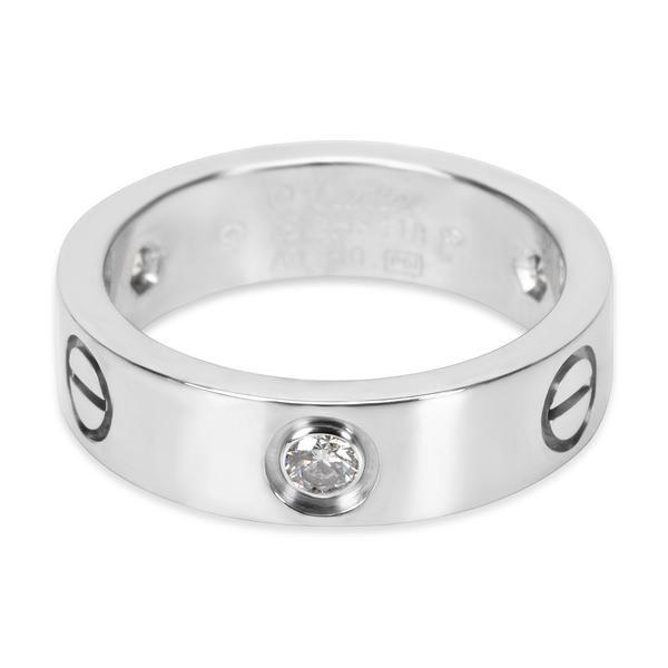 Cartier Diamond Love Ring in 18K White Gold (0.22 CTW)