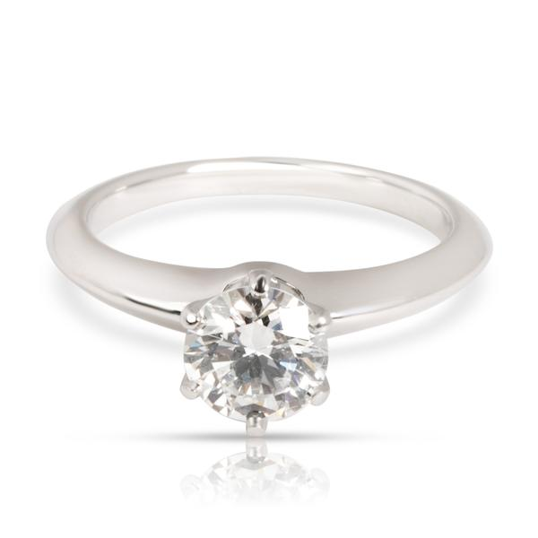 Tiffany & Co. Solitaire Diamond Engagement Ring in Platinum I VS2 0.82 CTW