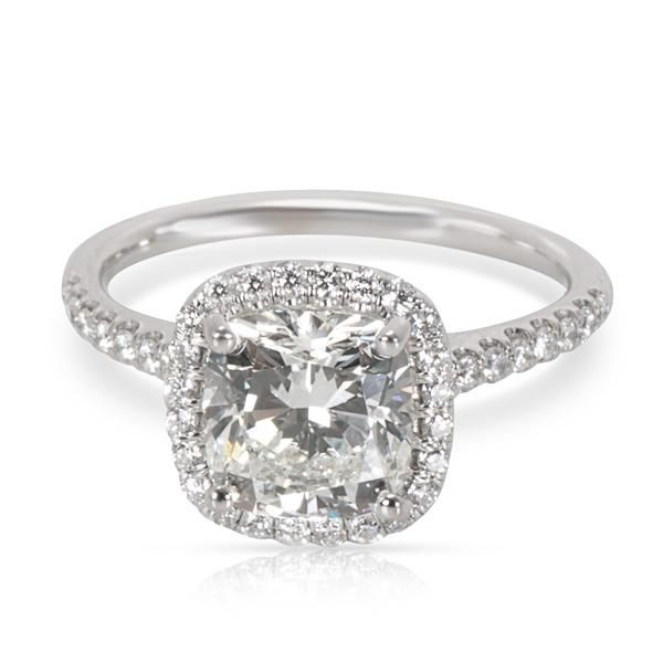 James Allen Cushion Cut Halo Diamond Engagement Ring in 14K Gold J SI1 1.90CTW