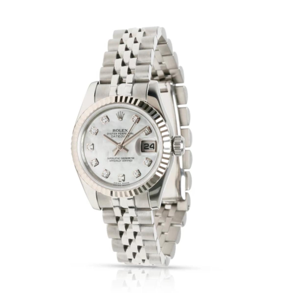 Rolex Datejust 179174 Women's Watch in 18kt White Gold/Steel
