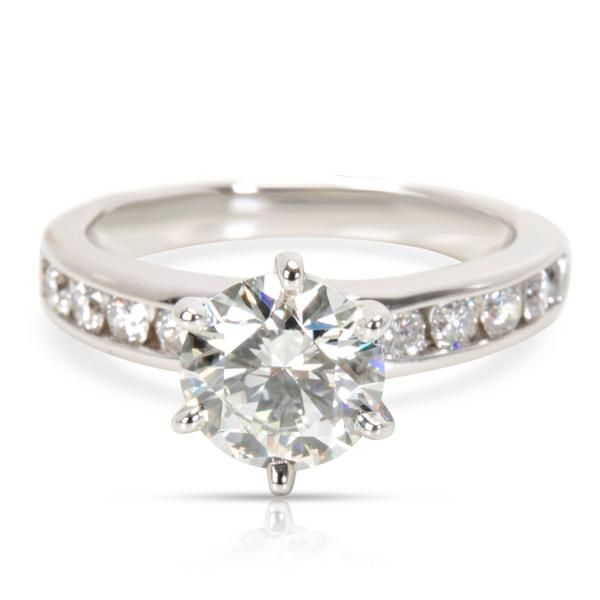 Tiffany & Co. Diamond Engagement Ring in Platinum H VVS2 1.57 CTW