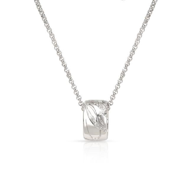 Chopard Chopardissimo Diamond Necklace in 18K White Gold 0.05 CTW