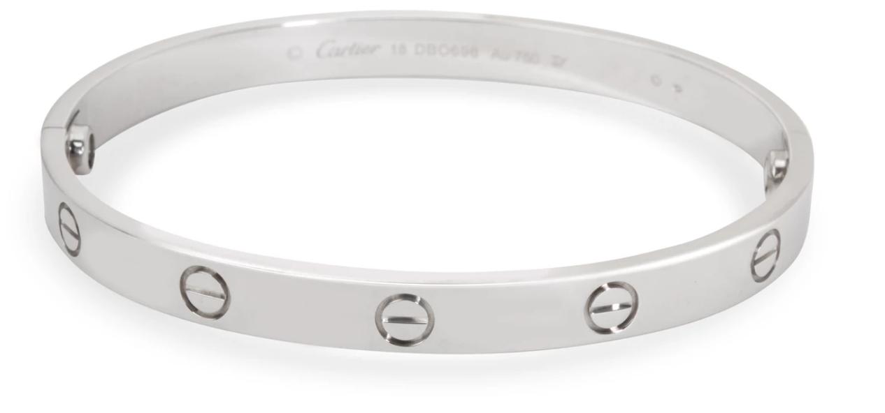 Cartier LOVE Bracelet in 18K White Gold (Size 18)