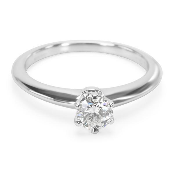 Tiffany & Co. Diamond Engagement Ring in Platinum F VS1 0.31 CTW