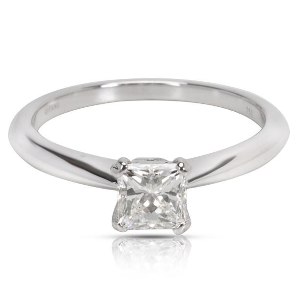 AGS Certified 0.55ct Ritani Engagement Ring in 18K White Gold (0.57 CTW)