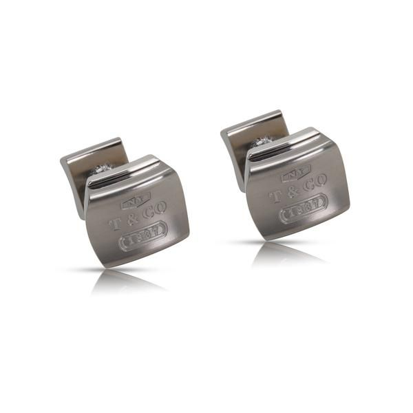 Tiffany & Co. 1837 Galaxy Cufflinks in Sterling Silver & Titanium