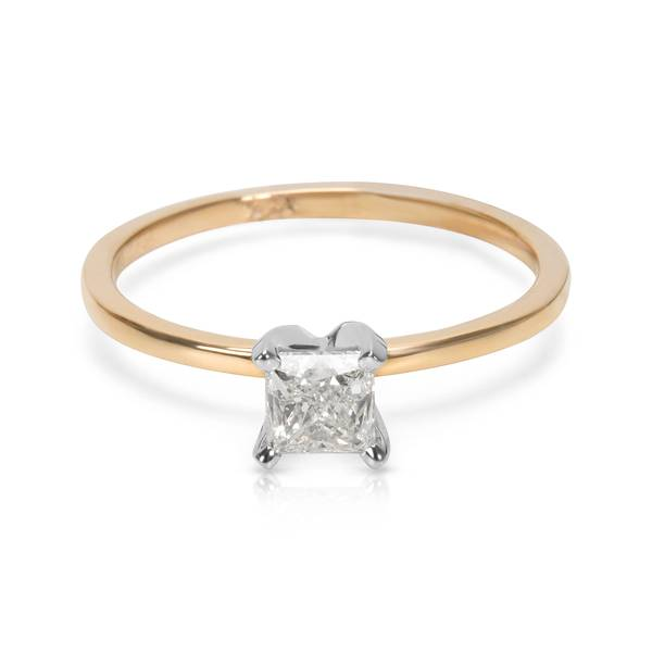 IGL Certified Diamond Engagement Ring in 14K Two Tone Gold (0.71 CTW)
