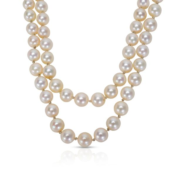 Estate Pearl Strand with 14KT Gold Clasp