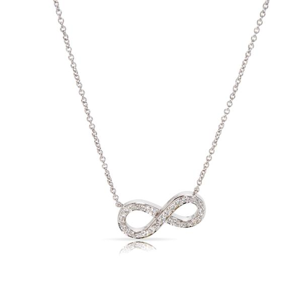 Tiffany & Co. Diamond Infinity Necklace in Platinum (0.15 CTW)
