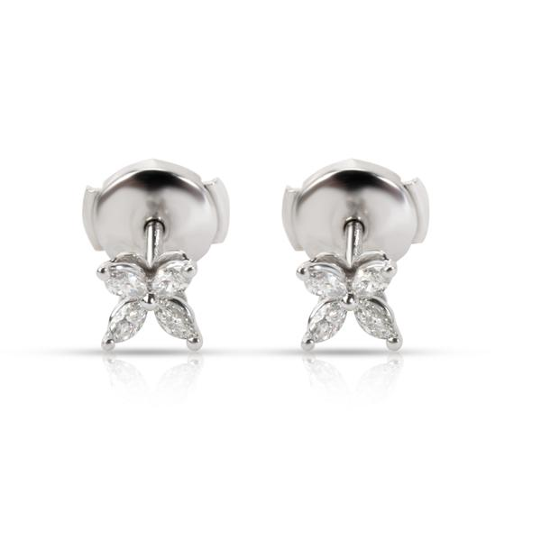 Tiffany & Co. Victoria Diamond Flower Earring in Platinum 0.19 CTW