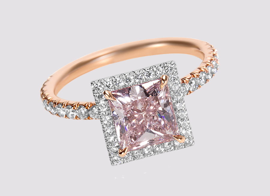 Shop Pink Engagement Rings