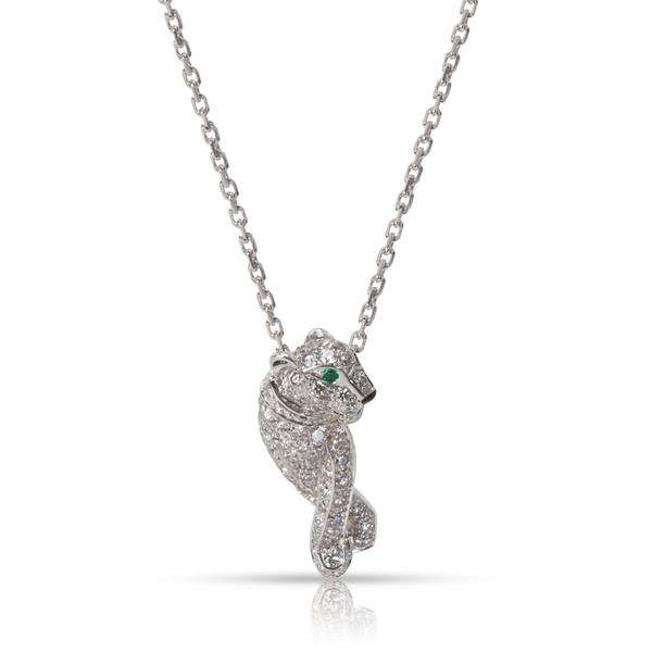 Cartier Panthere Diamond Pendant in 18K White Gold