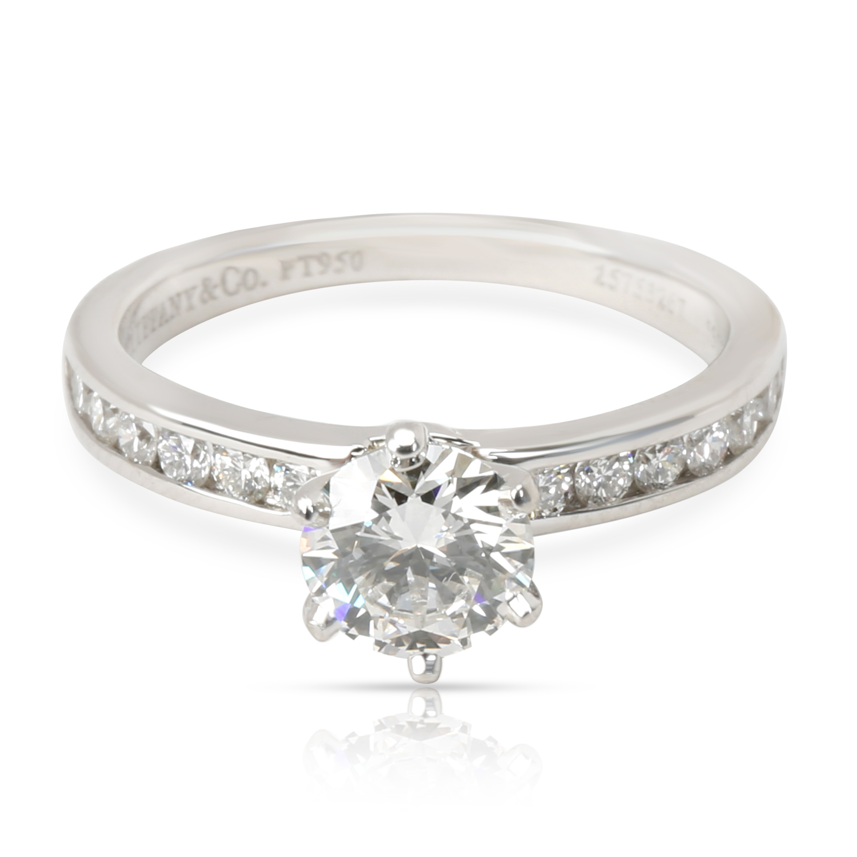 Tiffany & Co. Channel Diamond Engagement Ring in Platinum F VVS2 0.78 CTW